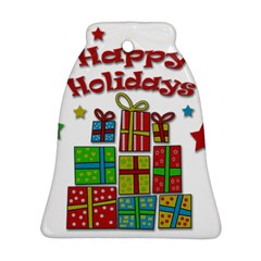 Happy Holidays - gifts and stars Ornament (Bell)