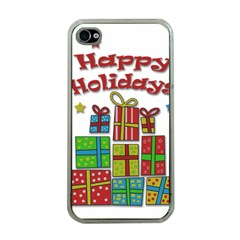 Happy Holidays - gifts and stars Apple iPhone 4 Case (Clear)