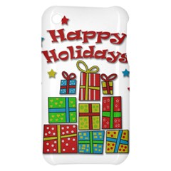 Happy Holidays - gifts and stars Apple iPhone 3G/3GS Hardshell Case