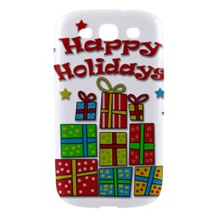 Happy Holidays - gifts and stars Samsung Galaxy S III Hardshell Case