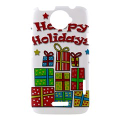 Happy Holidays - gifts and stars HTC One X Hardshell Case