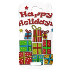 Happy Holidays - gifts and stars HTC One S Hardshell Case