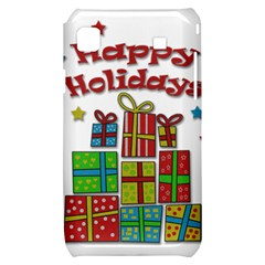 Happy Holidays - gifts and stars Samsung Galaxy S i9000 Hardshell Case