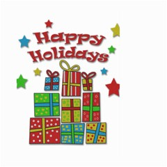 Happy Holidays - gifts and stars Large Garden Flag (Two Sides)