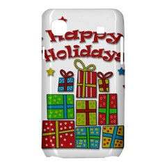 Happy Holidays - gifts and stars Samsung Galaxy SL i9003 Hardshell Case