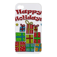 Happy Holidays - gifts and stars Apple iPhone 4/4S Premium Hardshell Case