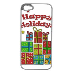 Happy Holidays - gifts and stars Apple iPhone 5 Case (Silver)
