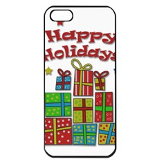 Happy Holidays - gifts and stars Apple iPhone 5 Seamless Case (Black)