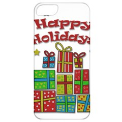 Happy Holidays - gifts and stars Apple iPhone 5 Classic Hardshell Case