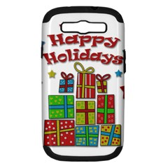 Happy Holidays - gifts and stars Samsung Galaxy S III Hardshell Case (PC+Silicone)
