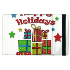 Happy Holidays - gifts and stars Apple iPad 3/4 Flip Case