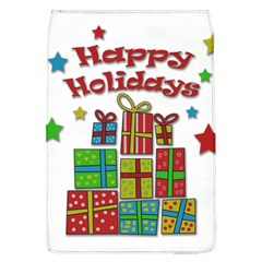 Happy Holidays - gifts and stars Flap Covers (L)
