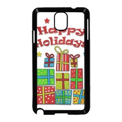 Happy Holidays - gifts and stars Samsung Galaxy Note 3 Neo Hardshell Case (Black)