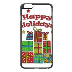 Happy Holidays - gifts and stars Apple iPhone 6 Plus/6S Plus Black Enamel Case