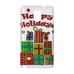 Happy Holidays - gifts and stars Samsung Galaxy Note 4 Hardshell Case