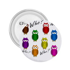 Cute owls - Who? 2.25  Buttons