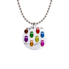 Cute owls - Who? Button Necklaces