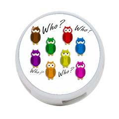 Cute owls - Who? 4-Port USB Hub (Two Sides)