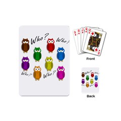 Cute owls - Who? Playing Cards (Mini)