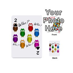 Cute owls - Who? Playing Cards 54 (Mini)