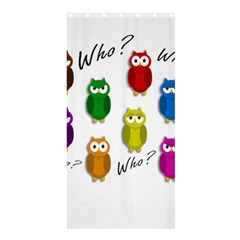Cute owls - Who? Shower Curtain 36  x 72  (Stall)