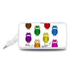 Cute owls - Who? Portable Speaker (White)