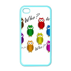 Cute owls - Who? Apple iPhone 4 Case (Color)