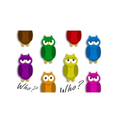 Cute owls - Who? YOU ARE INVITED 3D Greeting Card (8x4)