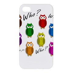 Cute owls - Who? Apple iPhone 4/4S Hardshell Case