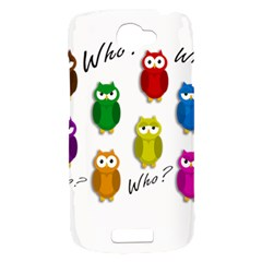 Cute owls - Who? HTC One S Hardshell Case