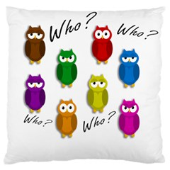 Cute owls - Who? Large Cushion Case (One Side)