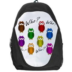 Cute owls - Who? Backpack Bag
