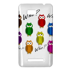 Cute owls - Who? HTC One SU T528W Hardshell Case