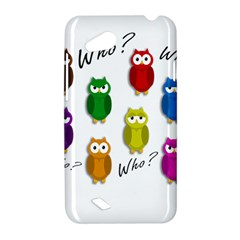 Cute owls - Who? HTC Desire VC (T328D) Hardshell Case