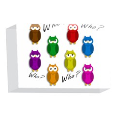 Cute owls - Who? 4 x 6  Acrylic Photo Blocks