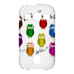 Cute owls - Who? Samsung Galaxy S7710 Xcover 2 Hardshell Case
