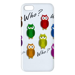 Cute owls - Who? iPhone 5S/ SE Premium Hardshell Case