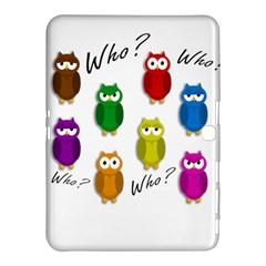 Cute owls - Who? Samsung Galaxy Tab 4 (10.1 ) Hardshell Case