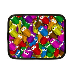 Cute owls mess Netbook Case (Small)