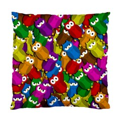 Cute owls mess Standard Cushion Case (Two Sides)