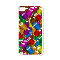 Cute owls mess Apple iPhone 4 Case (White)