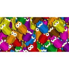 Cute owls mess YOU ARE INVITED 3D Greeting Card (8x4)
