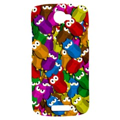 Cute owls mess HTC One S Hardshell Case