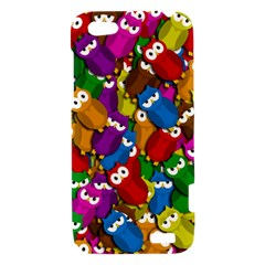 Cute owls mess HTC One V Hardshell Case