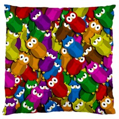 Cute owls mess Large Cushion Case (Two Sides)