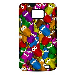 Cute owls mess Samsung Galaxy S II i9100 Hardshell Case (PC+Silicone)
