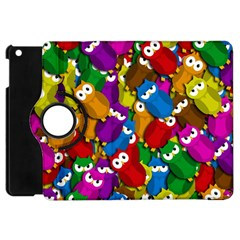 Cute owls mess Apple iPad Mini Flip 360 Case