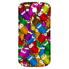 Cute owls mess Samsung Galaxy S3 S III Classic Hardshell Back Case