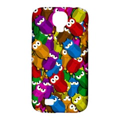 Cute owls mess Samsung Galaxy S4 Classic Hardshell Case (PC+Silicone)