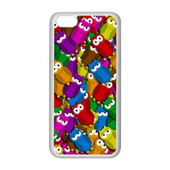 Cute owls mess Apple iPhone 5C Seamless Case (White)